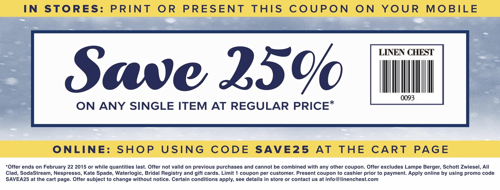 Cv linens coupon code 2018
